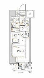 横浜市営地下鉄ブルーライン 阪東橋駅 徒歩3分の賃貸マンション 2階1Kの間取り