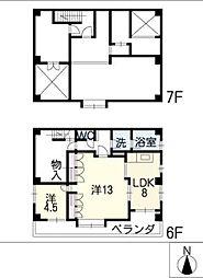 メゾン大進605号室[6階]の間取り
