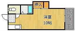 プランドゥ到津B[2階]の間取り