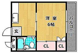 第五星ヶ丘マンション[1階]の間取り
