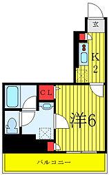 ナパージュ竹ノ塚駅前 7階1Kの間取り