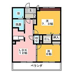 PASTOMEURE[1階]の間取り