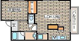 JR山陽本線 明石駅 バス12分 吉田下車 徒歩5分の賃貸マンション 4階1LDKの間取り