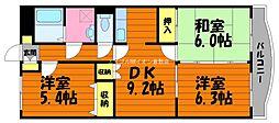 岡山県総社市福井丁目なしの賃貸マンションの間取り