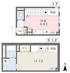 東京メトロ丸ノ内線 四谷三丁目駅 徒歩7分の賃貸マンション 1階1DKの間取り