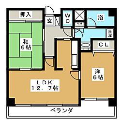 SSK若林[6階]の間取り