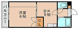 プレジデントハウス2[2階]の間取り