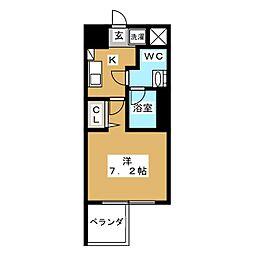 プレサンスNEO京都烏丸[2階]の間取り