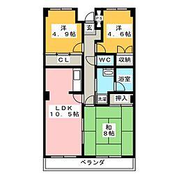 エバンス・ワケII[3階]の間取り