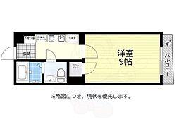 京王線 仙川駅 徒歩7分の賃貸マンション 2階1Kの間取り