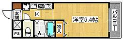 リバーランド堺東[4階]の間取り