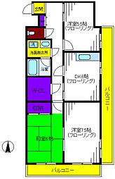シャトーレ石川[3階]の間取り