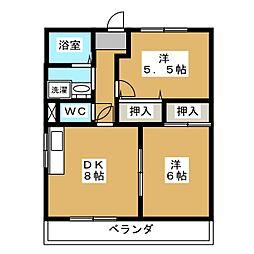 アイリス西賀茂[1階]の間取り