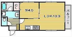 レジデンシア竹橋II[1階]の間取り
