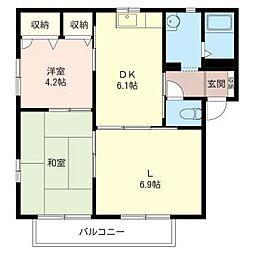 メゾン・コイズミ II[2階]の間取り