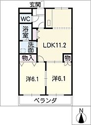 ルミナスハイムII[3階]の間取り