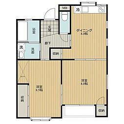TOMORROW HOUSE[E103号室]の間取り