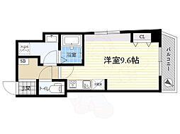 都営浅草線 浅草駅 徒歩8分の賃貸マンション 5階ワンルームの間取り