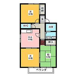 ドルフィン安田[2階]の間取り