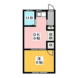 ニューボンハイツ[2階]の間取り