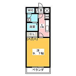 シャトー友喜II[1階]の間取り