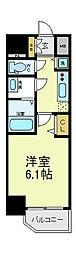 アクアプレイス天王寺2[6階]の間取り
