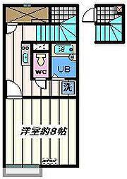 埼玉県三郷市上口の賃貸アパートの間取り