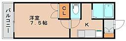 パークヒルズ名島フィールド1[202号室]の間取り
