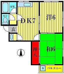 第一ニューハイツ[3階]の間取り