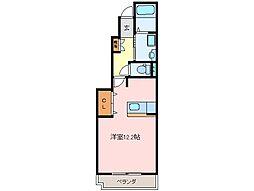 三重県松阪市春日町2丁目の賃貸アパートの間取り