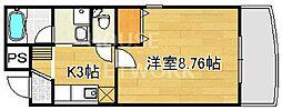 フォーブル高倉[502号室号室]の間取り