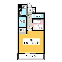ビッグ・ビー宿郷II[2階]の間取り
