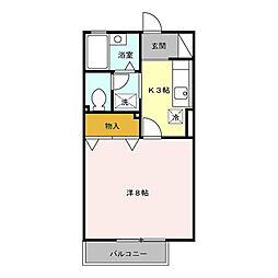 サンクテュエール[2階]の間取り