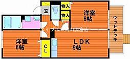 ピュアメゾン西大寺[1階]の間取り
