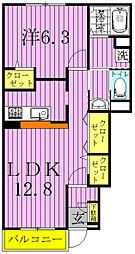 ヒルサイドコートA[103号室]の間取り