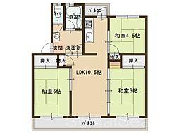 泉北茶山台第壱住宅7棟[5階]の間取り