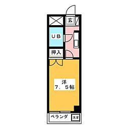 SUN PARK TOMIMOTO[3階]の間取り