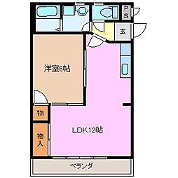 BEEHIVE SUZUKI[1階]の間取り