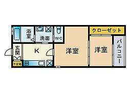 モンラパン[1階]の間取り