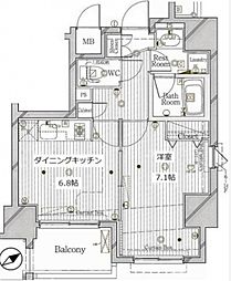 ル・リオン池袋コンフォート[13階]の間取り