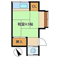 東京都荒川区西尾久3丁目の賃貸アパートの間取り