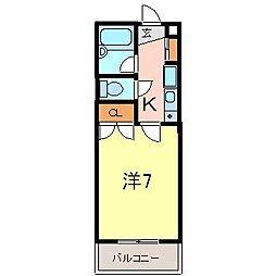 ファミール井ヶ谷B[103号室]の間取り