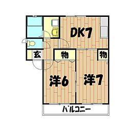 ガーデンハイツ(上飯田)[1階]の間取り