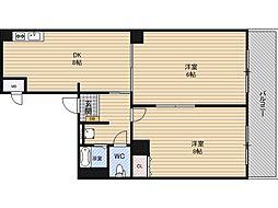 メロディハイム新大阪[7階]の間取り