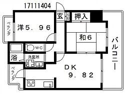 シャトーアネックス[2階]の間取り