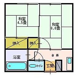 荻和良荘[01号室]の間取り
