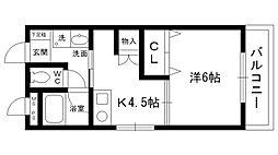 ハイツキノシタ[2階]の間取り