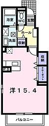 東京都府中市小柳町3丁目の賃貸アパートの間取り