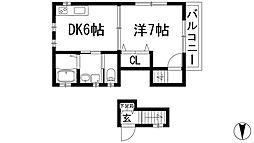 メイプルコート上渋谷B[2階]の間取り