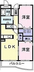 神奈川県藤沢市石川の賃貸マンションの間取り